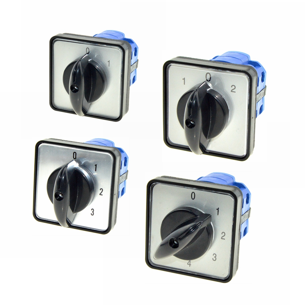 Ui 660V Ith 20A 8Terminals 2-5Positions ON,OFF Normally Open, Closed Rotary Contarol Switches Cam Universal Combination Switch 660v ui 10a ith 8 terminals rotary cam universal changeover combination switch