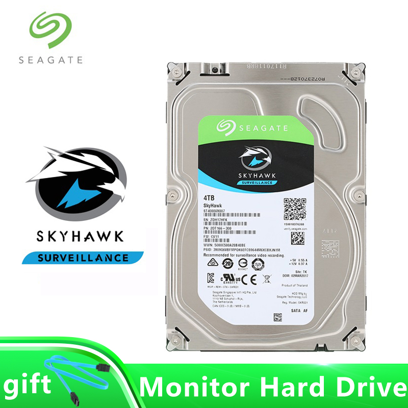 Seagate SkyHawk 4TB Surveillance Hard Drive 5900Rpm 64MB Cache 3 5 Internal HDD SATA 6Gb s