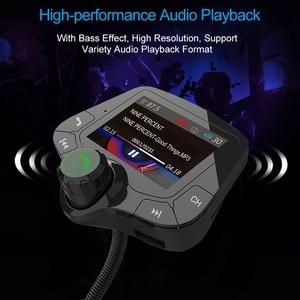 Image 4 - G24 HD цветной экран беспроводной автомобильный комплект Bluetooth MP3 плеер Hands free вызов fm передатчик автомобильный комплект поддержка QC 3,0 быстрое зарядное устройство