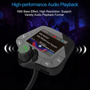 Image 4 - G24 HD Color Screen Wireless Car Kit Bluetooth MP3 Player Hands free Calling FM Transmitter Car Kit support QC 3.0 Fast charger