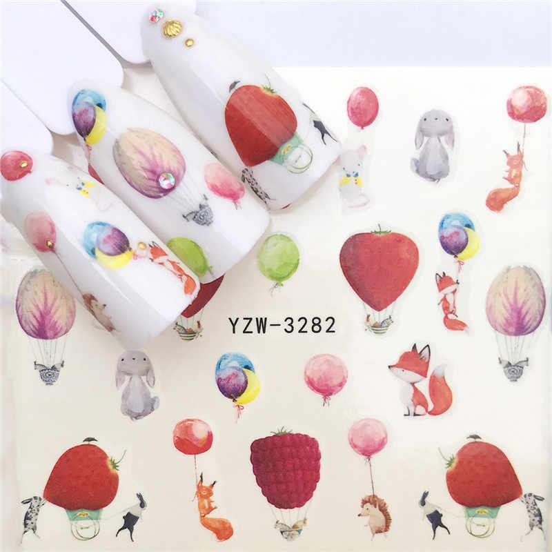 """1 szt. Nowe naklejki na paznokcie lody na lato napój """"zielony owoc"""" liść woda naklejki paznokci dekoracje artystyczne okłady suwaki Manicure"""