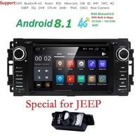 Hizpo 1 Дин Радио Android 8,1 DVD плеер автомобиля для jeep Grand Cherokee Chrysler 300c компасы/Dodge Chevrolet Epica Wrangle