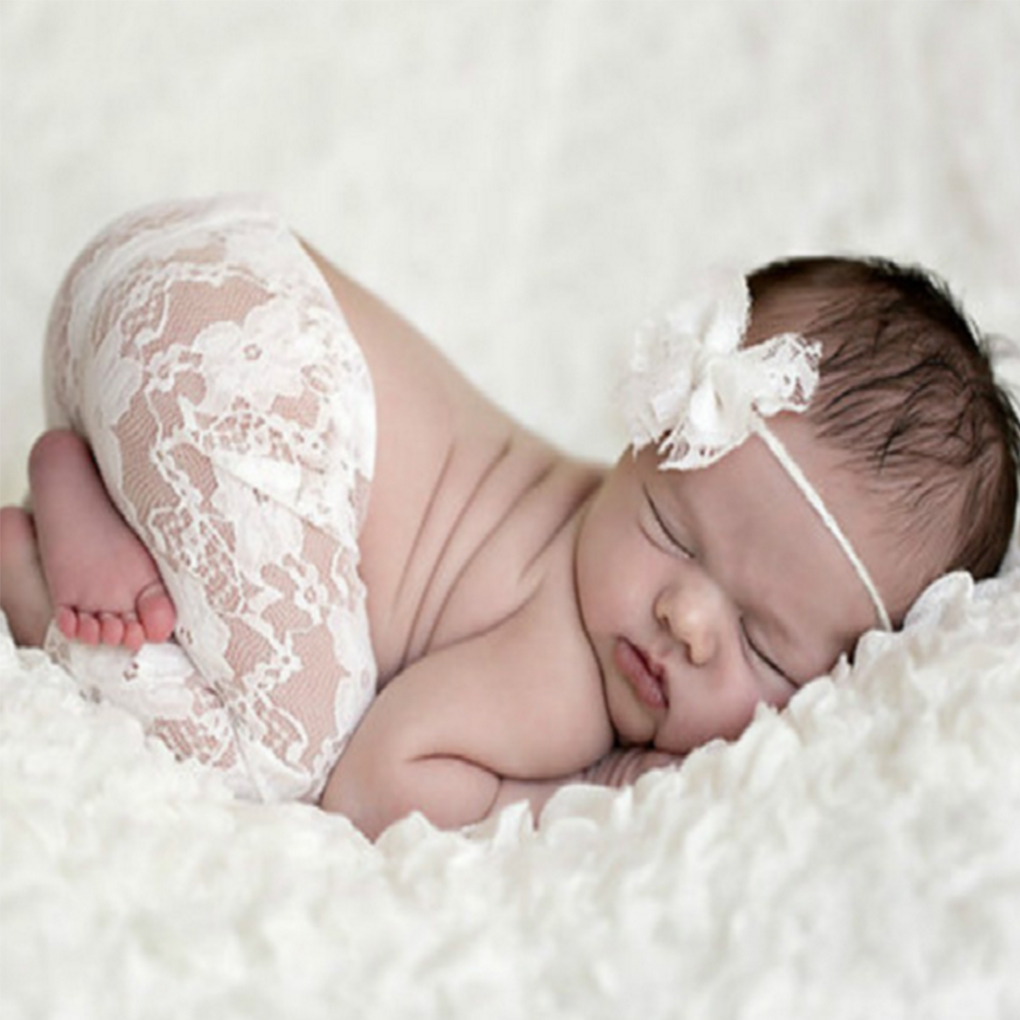 Baby Neugeborenen Fotografie Requisiten Spitze Lange Hose Mit Bowknot Stirnbänder Kostüm Infant Baby Outfits Neugeborenen Foto Requisiten