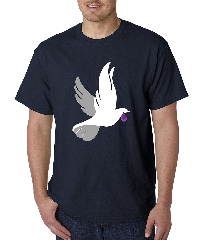 Shirt rip design - Men T Shirt Great Quality Funny Man Cotton Unisex T Shirt Dove Sheds A Purple Tear Prince Peace Love Rain Drop Rip