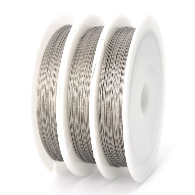 1 рулон 0,3 0,38 0,45 0,5 0,6 0,7 0,8 мм высокое качество стальной проволоки для изготовление, поиск ювелирных изделий Аксессуары поставщик оптом