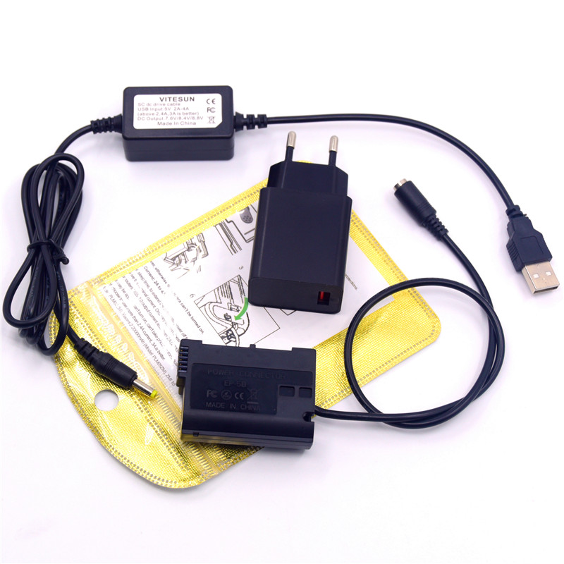 Hot Sale] EN EL15 EP 5B DC Coupler 28WH Power Bank for Nikon