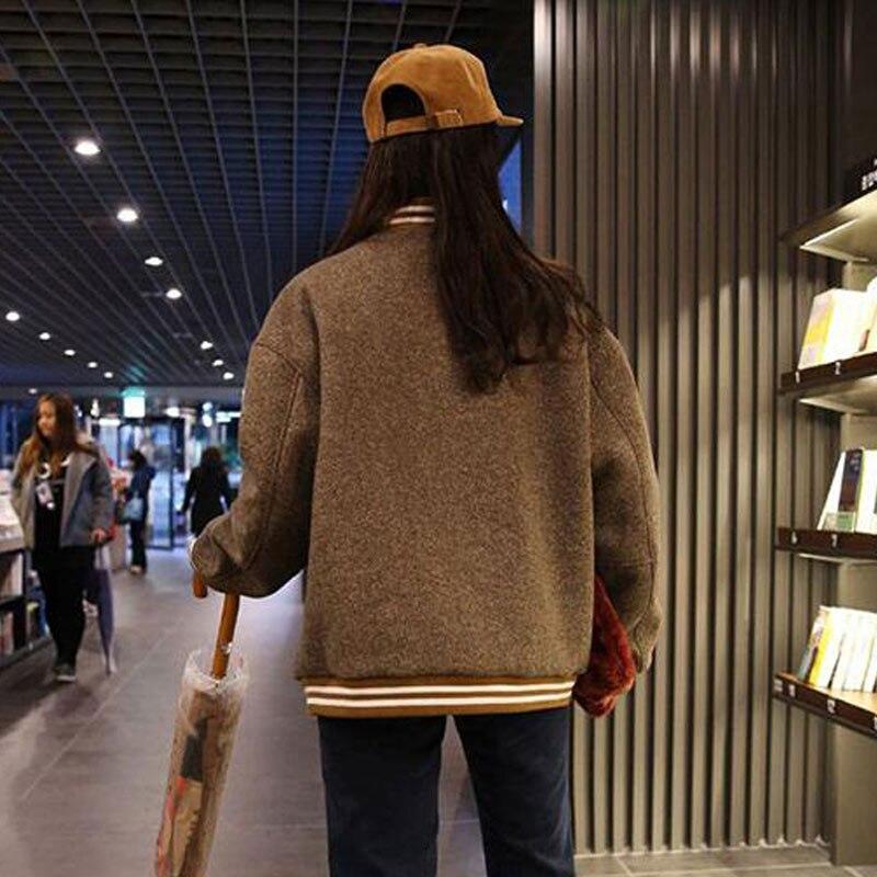 Surdimensionné Photo Shows Bomber Harajuku Plus Femmes As Tweed Manteau Court Veste Casaco Feminino Hiver Befree Lâche Coton A8cTU8wq