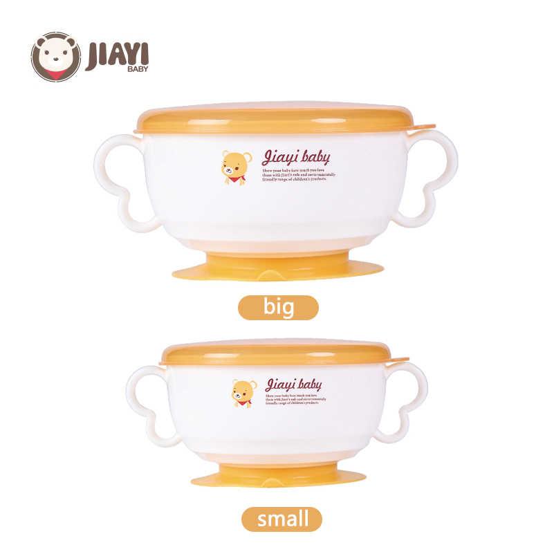 6 uds bebé vajilla caliente tazones aislantes para bebés tenedor cuchara taza antideslizante de la succión de la copa de los niños alimentación de bebé vajilla