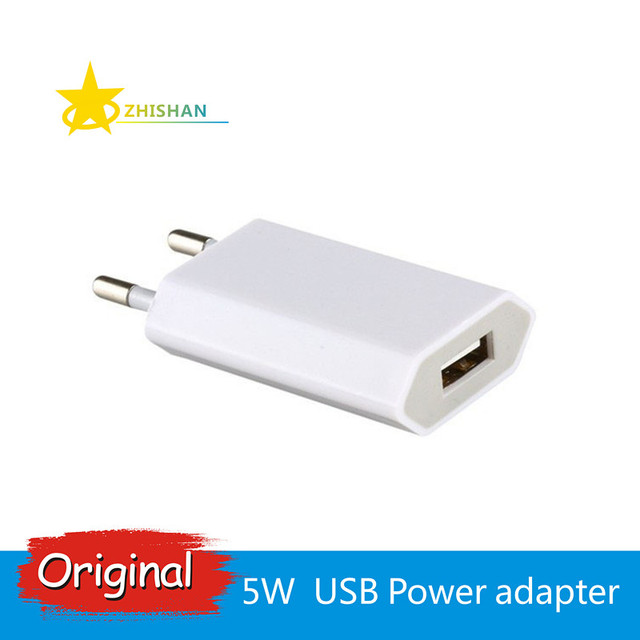 Original 5W USB Power USB Adapter AC Travel Wall Charger for iPhone X 4s 5 5c 5s 6s 7 8 Plus iPad iPod for EU Plug 5V/1A Output