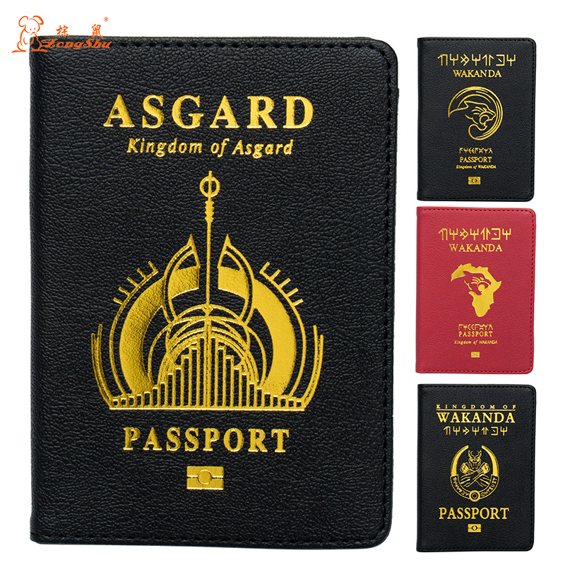 2019 Official custom Available Alert Unisex Soild Dark Red Soft Oil National Passport Cover Built In Rfid Blocking Protect Personal Information