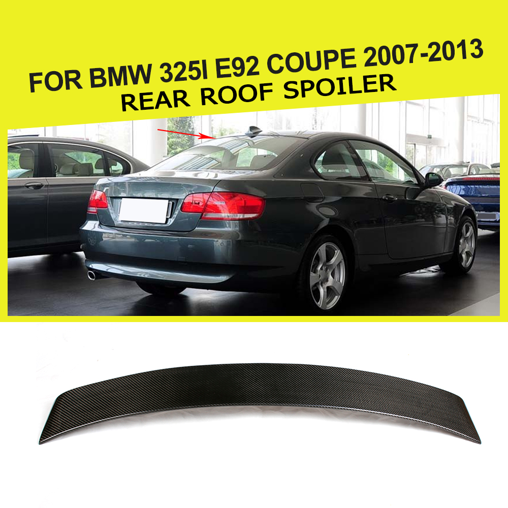 Car Styling Carbon Fiber Roof Window Spoiler Auto Wing Lip