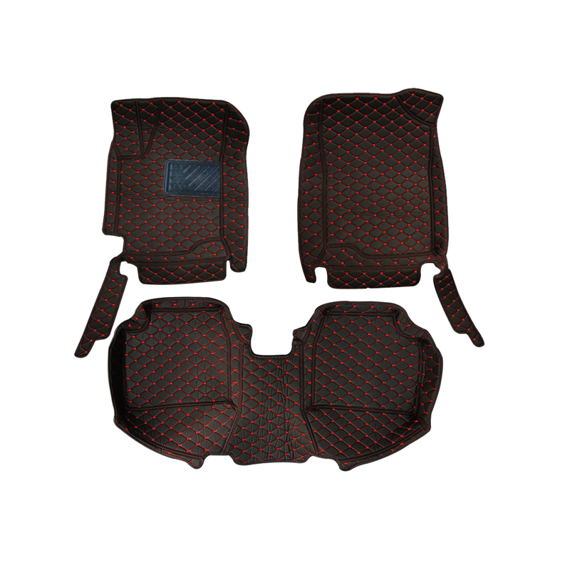 For LHD RU KIA RIO K2 2016 2015 2014 2013 2012 Car Floor Mats Leather Interior Auto Rugs on Carpets Mat Pads Accessories Styling