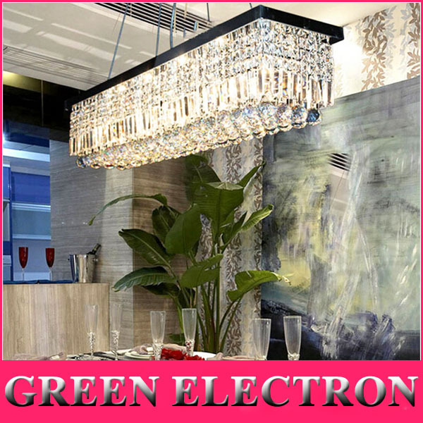 2016 Hot High Quality Crystal Chandeliers Rectangle K9 Crystal Ceiling Lamp Lighting Fixtures E14 Modern Restaurant LED Lighting free shipping high quality modern crystal ceiling lamp golden crystal ceiling lighting sy4062 4l d500mm ac 100