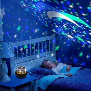 Image 3 - Star night lights for Kids Universe Cosmos star ry Sky Light proiettore a LED lampada rotante Nightlight Moon Sea World decorativo