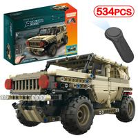 LegoINGLY Military Remote Control Armed Tank German Ww2 Army Hummer Building Blocks Technic Brick Electric Motor RC Kits Kid Toy