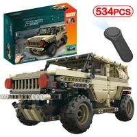 Military Remote Control Armed Tank German Ww2 Army Hummer Building Blocks Technic Brick Electric Motor RC Kits Kid Toy
