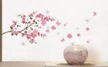 3D НОВЫЙ! вишни в цвету Радость Фото Стикер Стены Наклейки На Стены Плакат Фото База Искусство DIY Home Decor Сделать дом более теплым