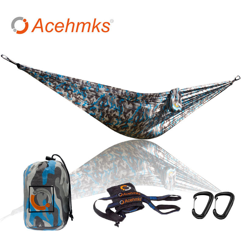 Carabiners Special Section Camouflage Marine Camouflage Hammock Portable Lightweight Swing Camping Hammocks With Traps 300cm*2 Hamaca Hamac Alu Furniture
