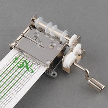 ФОТО new diy hand crank mechanical musical box with hole puncher 20 note paper strips gift make your own song