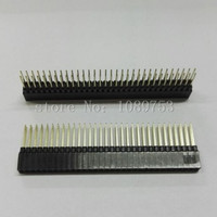 10Pcs PC104 2 54mm 2x32 Pin 64 Pin Female Double Row Straight Pin Header Strip