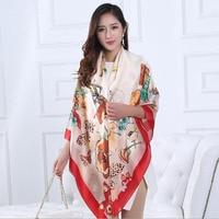 Nuove donne sciarpe di seta foulard femme selvaggio Farfalle comma lusso raso sciarpa di aria condizionata scialle protezione solare Regalo A747