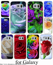 Rose Hard Transparent Case Cover for Galaxy S3 S4 S5 & Mini S6 S7 Edge Plus Case Cover