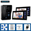 HOMSECUR дверной телефон дверной звонок сенсорный ключ видео с ИК-камерой с клавиатурой дверной замок пульт дистанционного управления