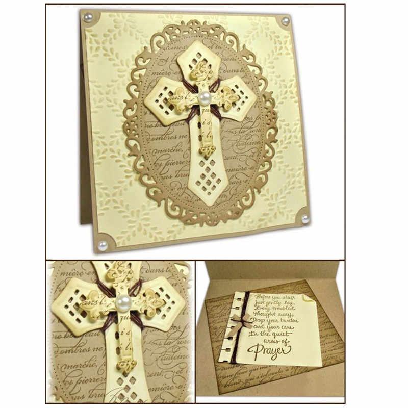 YaMinSanNiO кресты религиозный, металлический Скрапбукинг Крафтовая окраска рамка карточка изготовление альбома тиснение трафарет Новый 2019 штампов