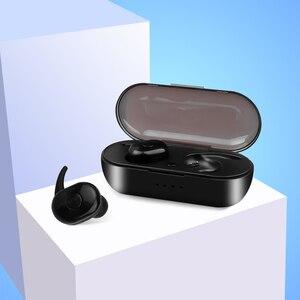 Image 3 - Kebidu חדש הגעה TWS Bluetooth V5.0 אוזניות 3D סטריאו ספורט אלחוטי אוזניות עם מיקרופון כפול עבור iphone xiaomi