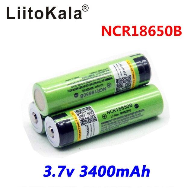 2018 Original LiitoKala  18650 3400 mAh PCB Battery 3.7 V Rechargebale Li-ion Battery  18650B18650 Protegido 3400