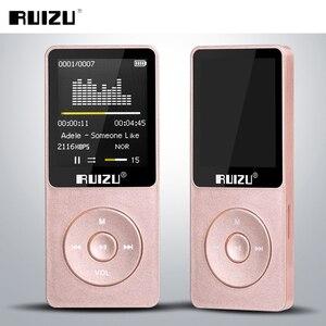 Image 5 - مشغل أصلي RUIZU X02 MP3 مع تخزين 8 جيجابايت شاشة 1.8 بوصة صغيرة محمولة رياضية Mp3 دعم راديو FM ، كتاب إلكتروني ، ساعة ، مسجل