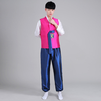 Korean Traditional Costume Hanbok For Men Ancient Hanbok Costume For Stage Cosplay Male Oriental National Dance