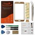 Бесплатная Доставка Золото Передняя Линза Стекло Для Samsung Galaxy S5 G900 G9008W Внешний Сенсорный Жк-Экран с Инструменты Для Ремонта + клей