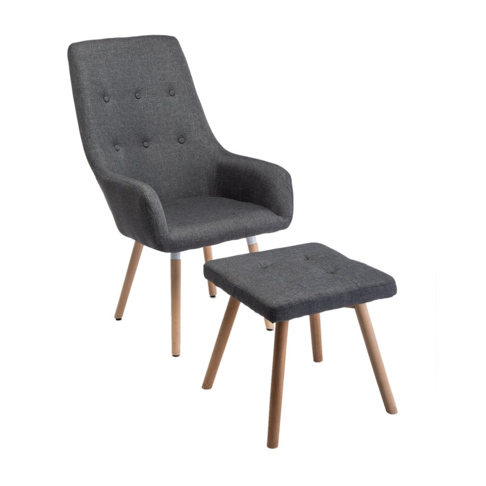 Schwingsessel Günstig Fashion Lounge Relax Armchair With Footrest Stool Padded Seat High Back Chair Comfortable Home Upholstered