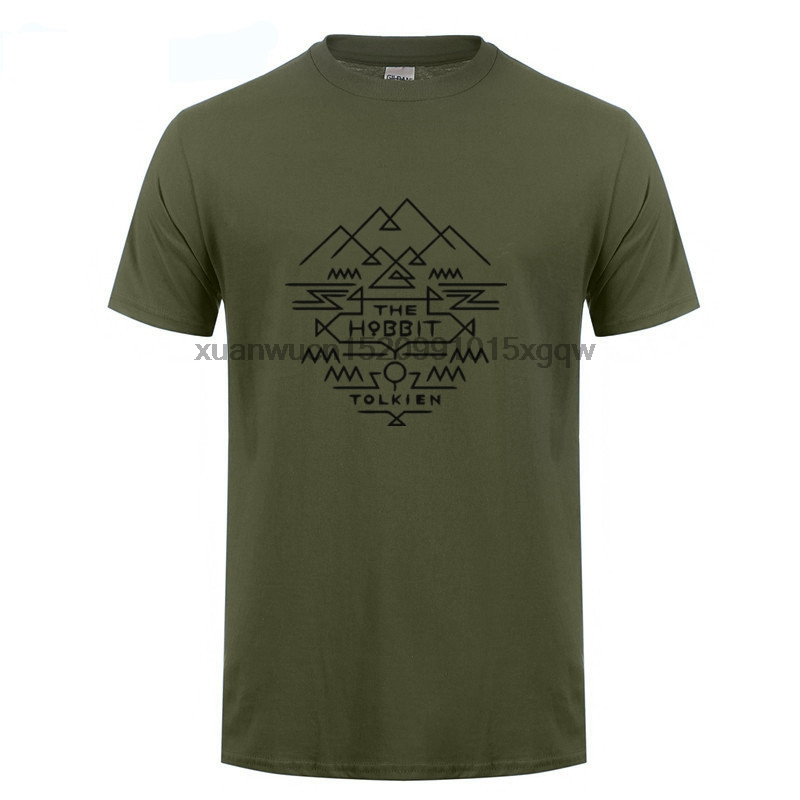 GILDAN LORD OF THE RINGS/ LE HOBBIT TOLKIEN AZTEQUE T SHIRT Funny O-Neck Tshirt