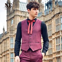 Brand Men Clothing Autumn Winter mens formal wedding suit vest coat waistcoat slim fit classic vest England Retro plus size