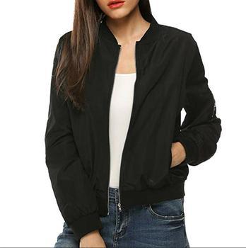 Summer Women Windbreaker Jacket New Fashion Women Thin Basic Bomber Jacket Long Sleeve Coat Casual Female Jacket Outerwear 8