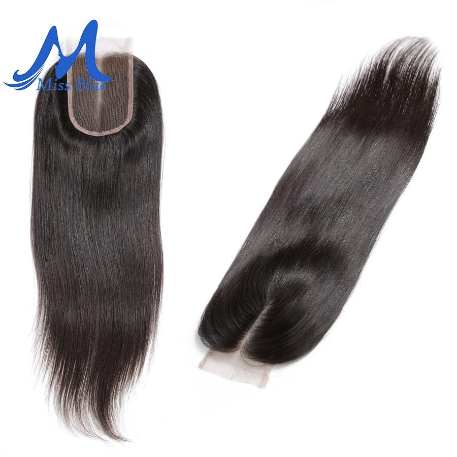 Missblue бразильские человеческие волосы на шнуровке прямые 4x4 5x5 швейцарские кружева 100% Реми волосы на шнуровке Фронтальная застежка с детским...