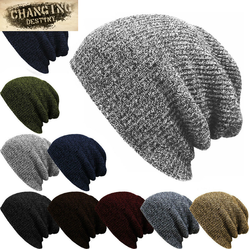 2017 new hot Unisex Autumn winter Male hats Striped Knitted Beanies cap Man'S Women Hip-Hop Bonnet Warm wool caps Gorra 7 color