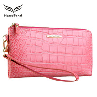HANSBAND New Fashion Women Wallet Rear Genuine Leather Wallet Cow Leather Purse Female Casual Clutch Money