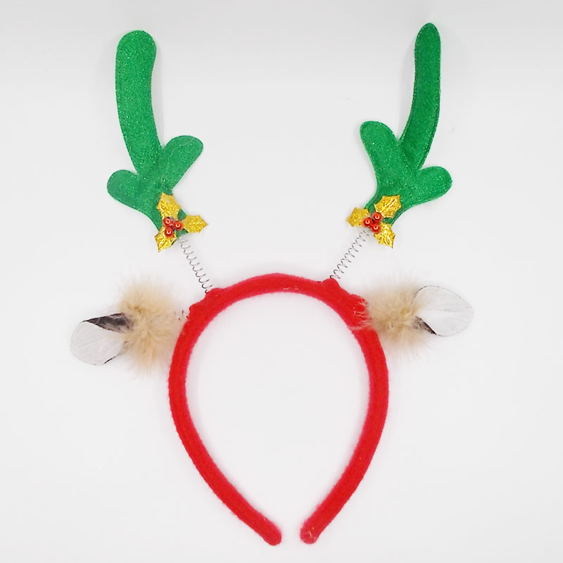 Christmas deer antler bow hair accessories hairdo jewelry New Year gift party gift