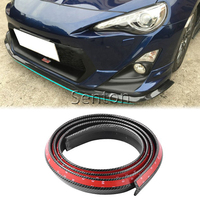 Car Carbon Fiber Front lip 2.5M Styling For Nissan Qashqai X TRAIL Juke TIIDA Note Almera March For Mazda 3 6 2 CX 5 CX5 CX 7