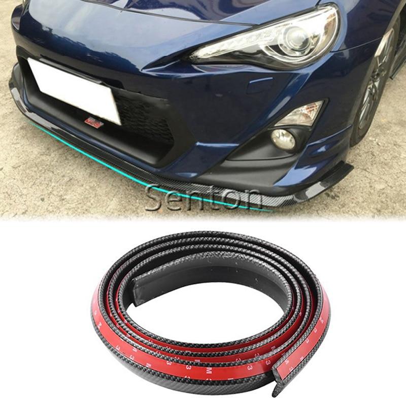 Lèvre avant de voiture en Fiber de carbone 2.5 M style pour Nissan Qashqai X-TRAIL Juke TIIDA Note Almera March pour Mazda 3 6 2 CX-5 CX5 CX-7
