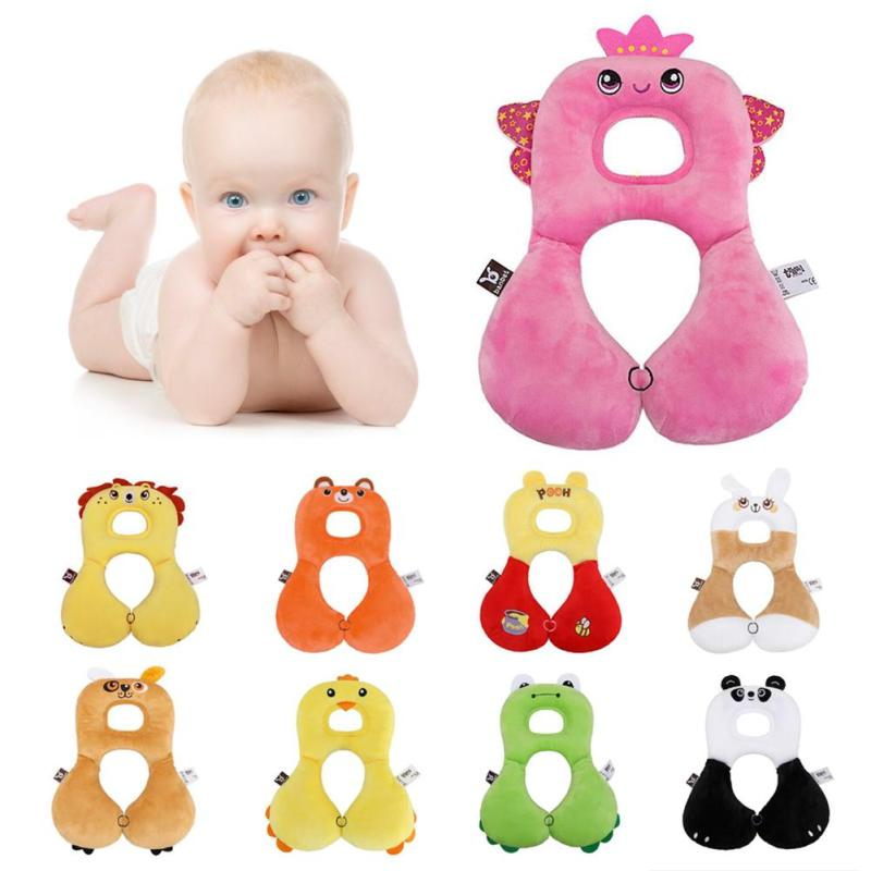 Baby Bedding Neck Protection Pillow Cute Animal Design 0-4 Years Old Children Travel Pillows Head and Neck Support By Car Air A5 alexika neck pillow air burgundy red 9517 0008