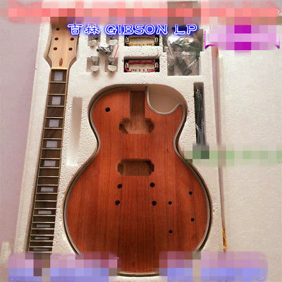 DIY Electric Guitar Kit unique Body Rosewood Fingerboard Neck for LP diy electric guitar kit unique body rosewood fingerboard neck for lp guitar body african mahogany with a 15 mm of american har