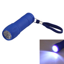 Multi-function Camping Light Portable Mini Bowling Shape Flashlight Strong Light 9 LED Flashlight Hiking EDC Tools HS