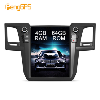 Android 8.1 Tesla-style Vertical Screen Sat Navigation for Toyota Fortuner 2007-2015 Audio Player In-dash Carplay 4K 1920*1080