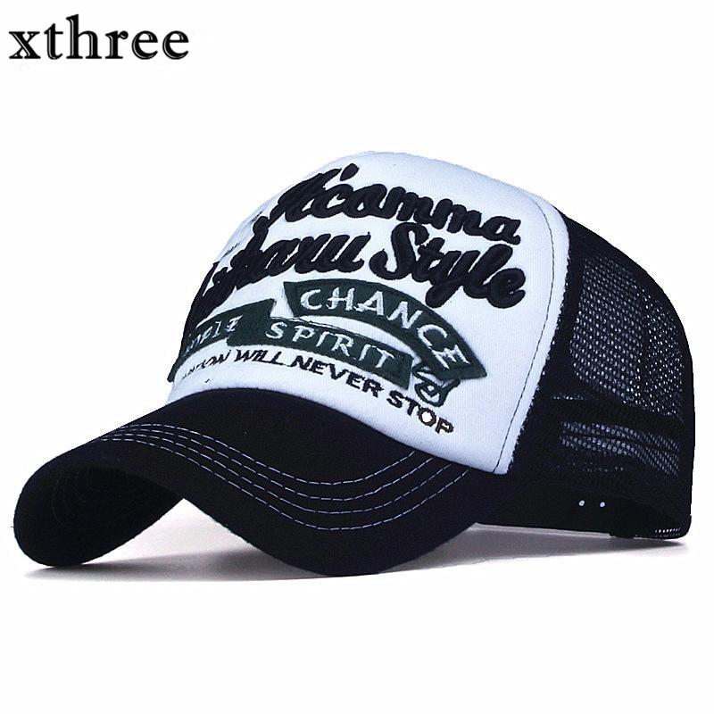 Xthree nuevo 5 paneles bordados verano gorra de béisbol ocasional Mush Cap  hombres SnapBack sombrero para las mujeres casquette gorras 58fd81822d0