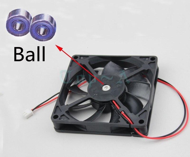 цены на Gdstime 5 pcs 80x80mm Two Ball Bearing 2Pin 24V 8cm Cooler DC Brushless Cooling Fan 80mm x 15mm 8015 в интернет-магазинах