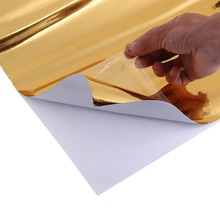 Новинка три слоя автомобильной электро-покрытие зеркальная пленка Золото/серебро стикер лист эмблема крышка кузова автомобиля